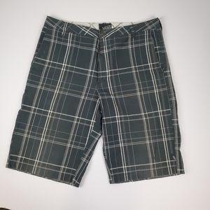 Vans Black and White Plaid Shorts
